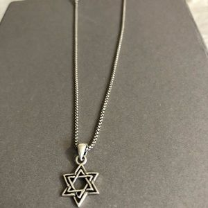 Jewelry - Star Of David 925 Italy Silver necklace